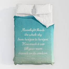 Moonlight Floods the Whole Sky - Beautiful Quote by Rumi Comforters