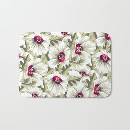 New Zealand Hibiscus Floral Print (Day) Bath Mat