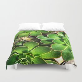 3 Succulents Duvet Cover