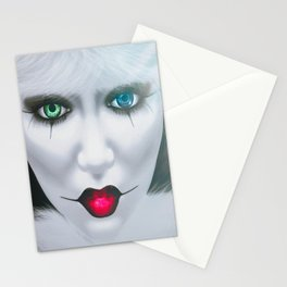 Harlequin Eyes Of A Different Color Stationery Cards