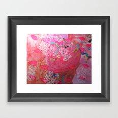 Pink drops Framed Art Print