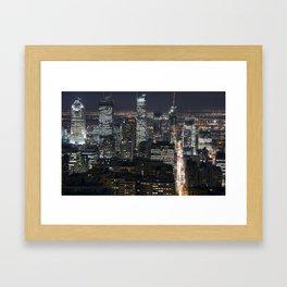 Montréal by Night Framed Art Print