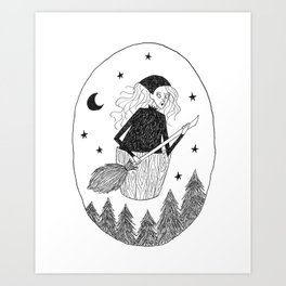 Folklore Witch Art Print