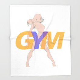 GYM Woman 3 Throw Blanket