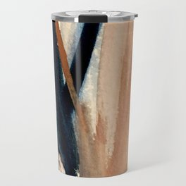 Waves - a pretty minimal watercolor abstract in blues, pinks, and browns Travel Mug