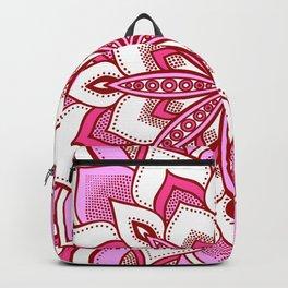 Mandala Flower : Pink Backpack