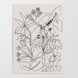 Charcoal Tropics Poster