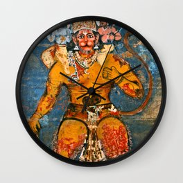 Hunuman, The Monkey God Wall Clock