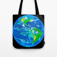 earth Tote Bags featuring Earth by Saundra Myles