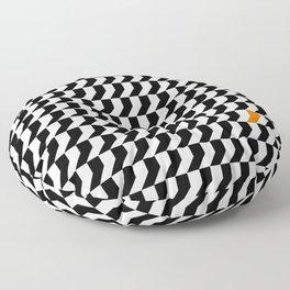 Orange: Black And White Pattern Floor Pillow