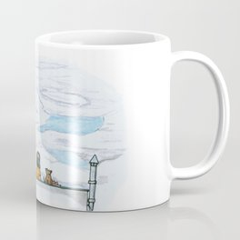 The little girl in orange. Watching the clouds pass over the sky Coffee Mug