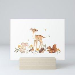 Fawn & Friends Mini Art Print