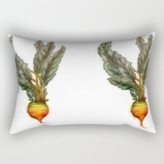 Rooted: The Golden Beet Rectangular Pillow