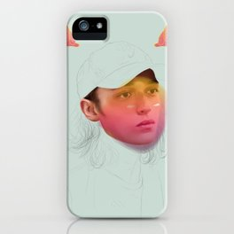Masking My Intentions iPhone Case