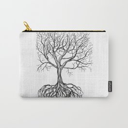 Bare tree with root Carry-All Pouch
