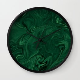 Modern Cotemporary Emerald Green Abstract Wall Clock