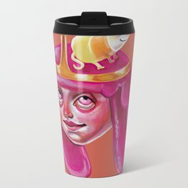 Bubblegum Loves Science Metal Travel Mug