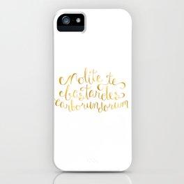 Don't Let the Bastards Grind You Down - Faux Gold Foil iPhone Case
