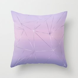 Silver lines on gradient background Throw Pillow