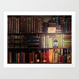 The Cozy Cottage Reading Nook Art Print