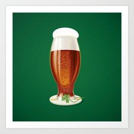 Beer. Happy St. Patrick's Day! Art Print