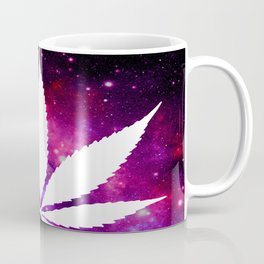 Weed : High Times Fuchsia Pink Purple Galaxy Coffee Mug