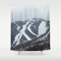 vermont Shower Curtains featuring Killington Vermont by BACK to THE ROOTS