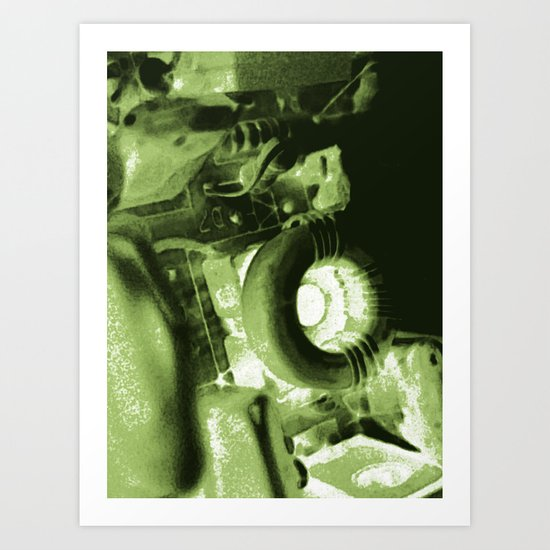 DIY movie projector Art Print