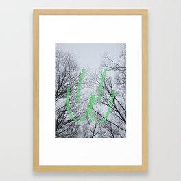 winter Mew Face Framed Art Print
