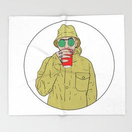 "Mac Miller R.I.P ""Juice"" Throw Blanket"