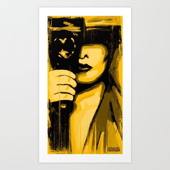 Vintage Camera Girl Art Print