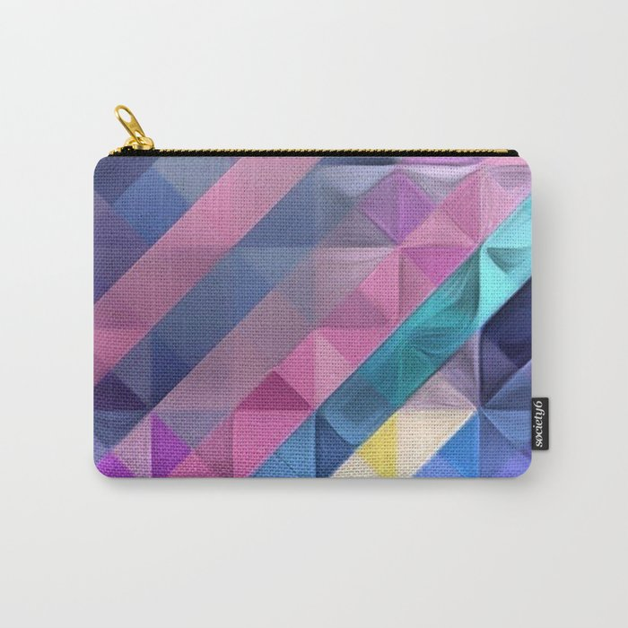 Geometric Abstract Pastel Rainbow Carry-All Pouch