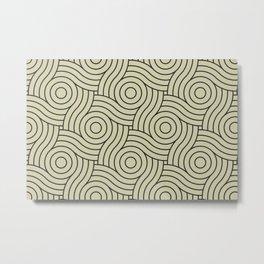 Circle Swirl Pattern Valspar America Natural Olive Green - Martinique Dawn - Asian Silk Metal Print