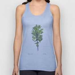 Red Russian Kale Unisex Tank Top