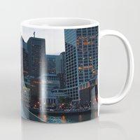 metropolis Mugs featuring Metropolis by Pan Kelvin
