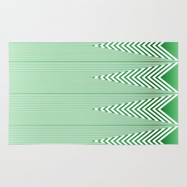 Art Deco Geometric Arrowhead Mint Green Design Rug