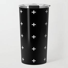 PLUS ((white on black)) Travel Mug