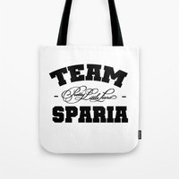 pretty little liars Tote Bags featuring PLL  - Team Sparia ( Pretty Little Liars ) by swiftstore