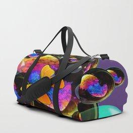 COLORFUL FUN  BUBBLES & YELLOW BUTTERFLIES PURPLE FANTASY Duffle Bag