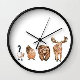 Canadian Crew | Woodland Animals Nursery Art Wall Clock