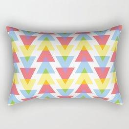 Colour mixing triangles Rectangular Pillow