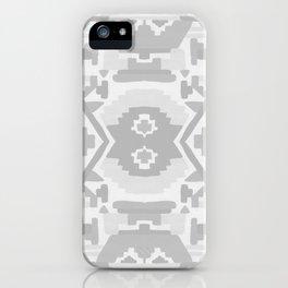 Geometric Aztec in Soft Grey iPhone Case