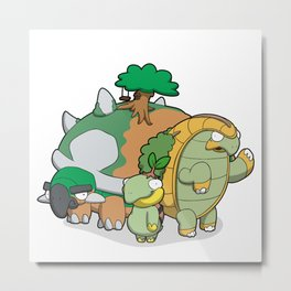 Terra Turtles Metal Print