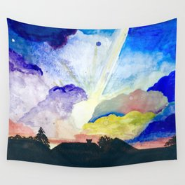 sunset1 // watercolor colorful sunset arizona Wall Tapestry