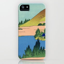 Katsushika Hokusai - 36 Views of Mount Fuji (1832) - 24: The lake of Hakone in Sagami Province iPhone Case
