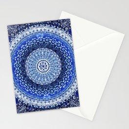 Cobalt Tapestry Mandala Stationery Cards