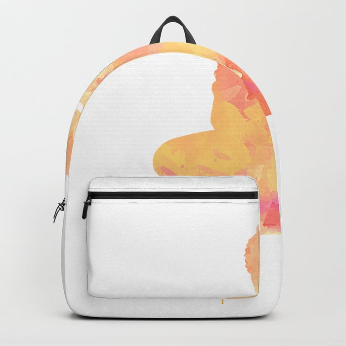 Buddha art illustration watercolor Backpack