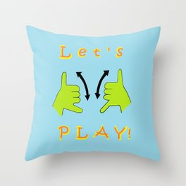 ASL Let's PLAY! Throw Pillow