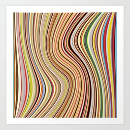 Old Skool Stripes - Flow Art Print