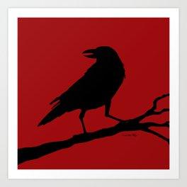 The Raven - red/black Art Print
